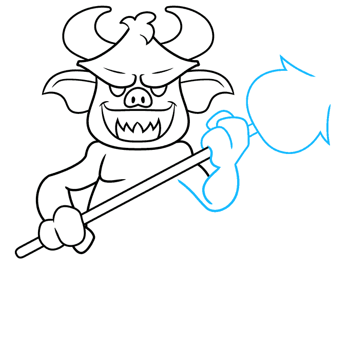 How to Draw Cartoon Devil: Step 6