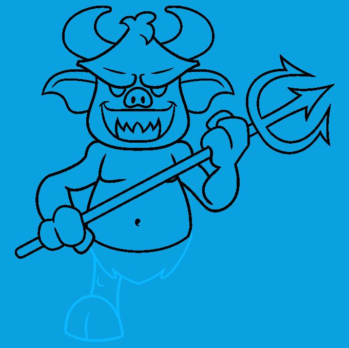 How to Draw Cartoon Devil: Step 8