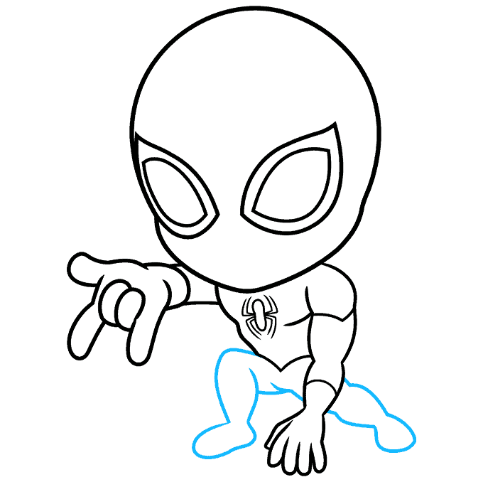 How to Draw Chibi Spider-Man: Step 5
