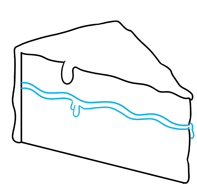 How to Draw a Chocolate Cake Step 04