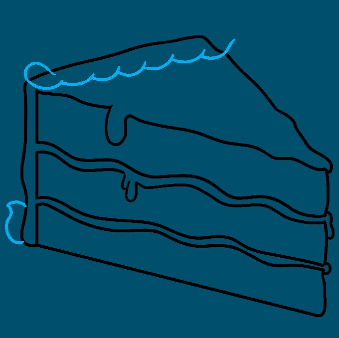 How to Draw a Chocolate Cake Step 06