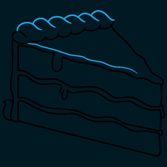How to Draw a Chocolate Cake Step 07