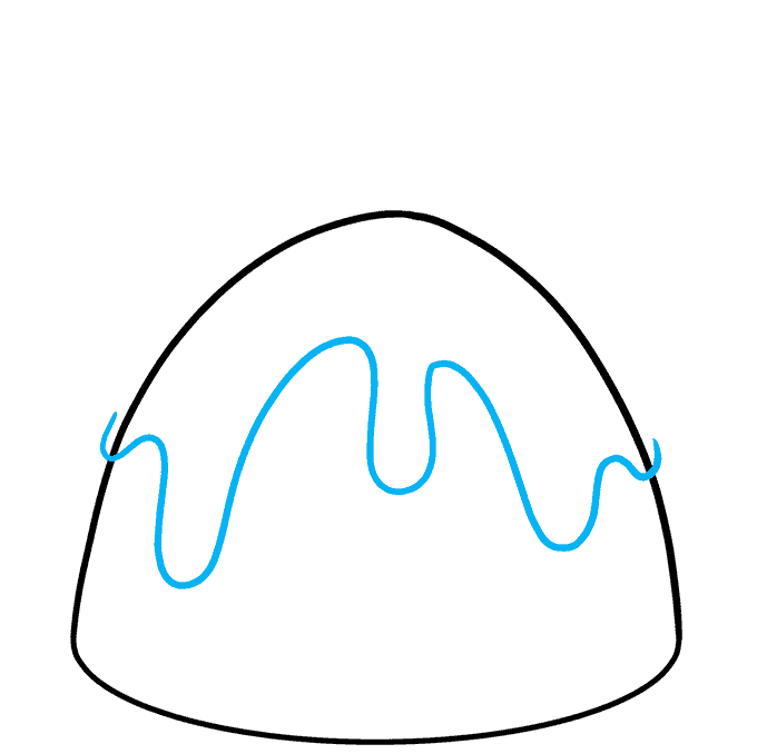 How to Draw Christmas Pudding: Step 3