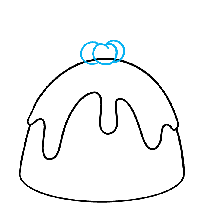 How to Draw Christmas Pudding: Step 5