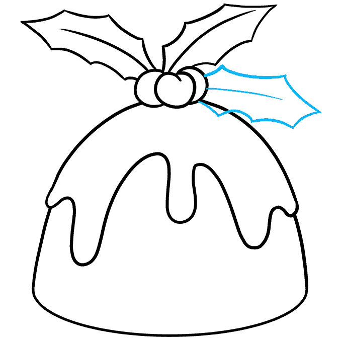 How to Draw Christmas Pudding: Step 8