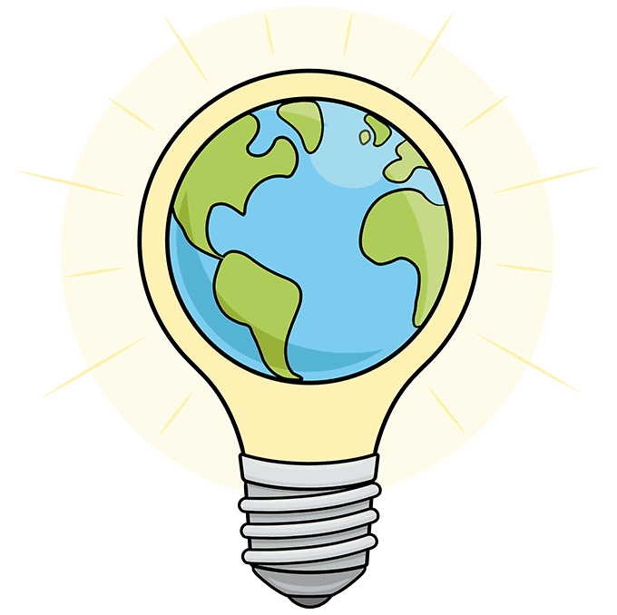 How to Draw an Earth Hour Illustration Step 10