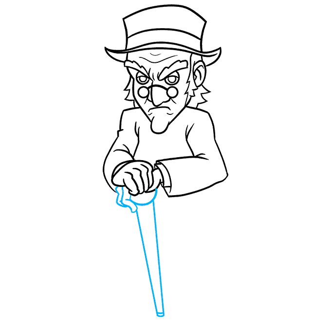 How to Draw Ebenezer Scrooge from A Christmas Carol Step 07