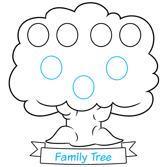 how to Draw a Family Tree Step 07