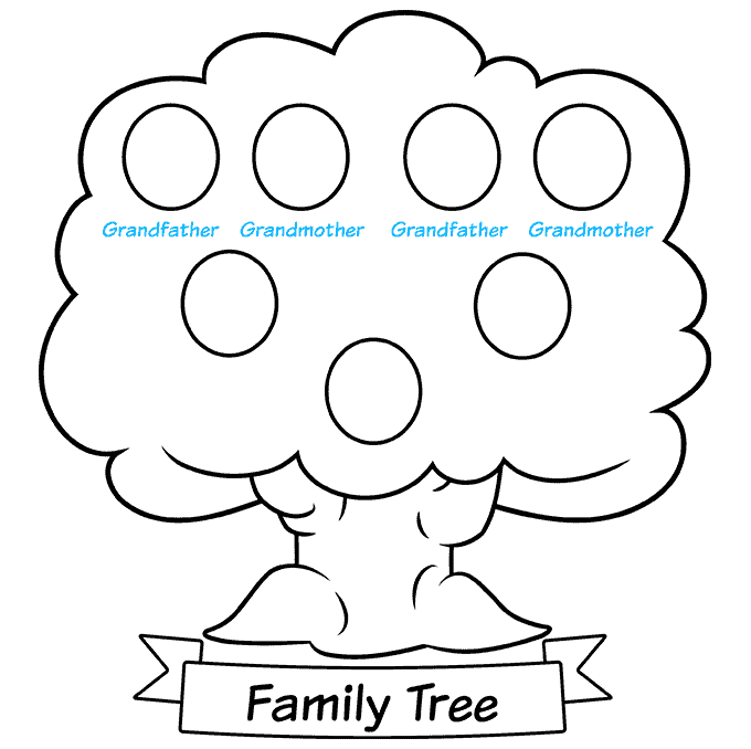 how to Draw a Family Tree Step 08