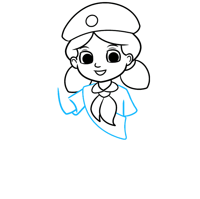 How to Draw Girl Scout: Step 5