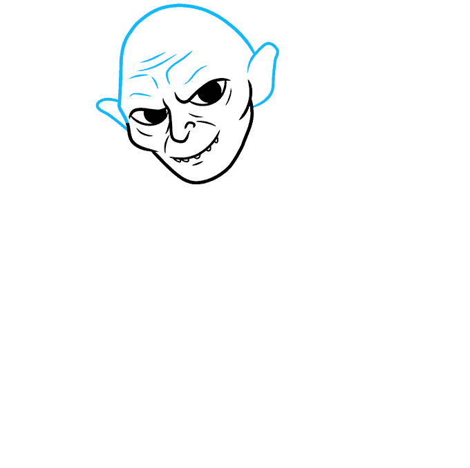 How to Draw Gollum: Step 3