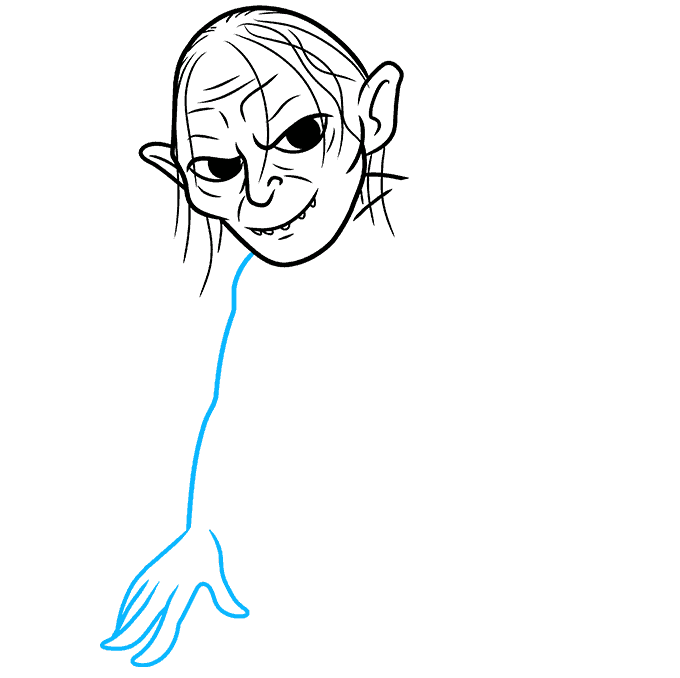 How to Draw Gollum: Step 5