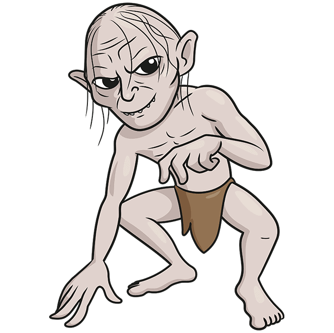 How to Draw Gollum: Step 10
