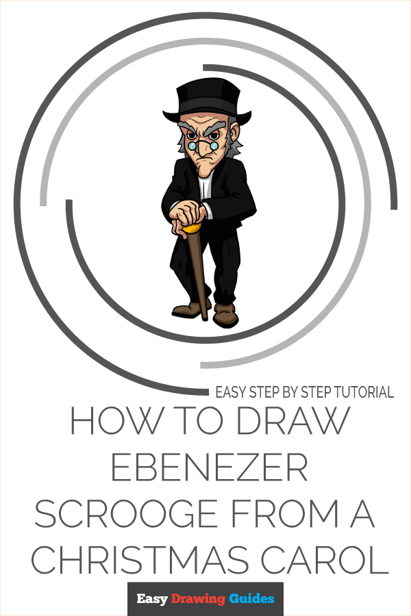 How to Draw Ebenezer Scrooge from A Christmas Carol Pinterest Image