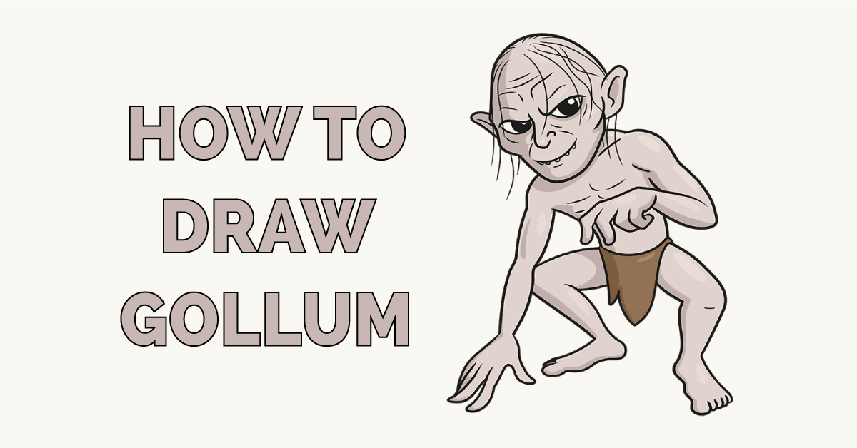 How to Draw Gollum Featured Image