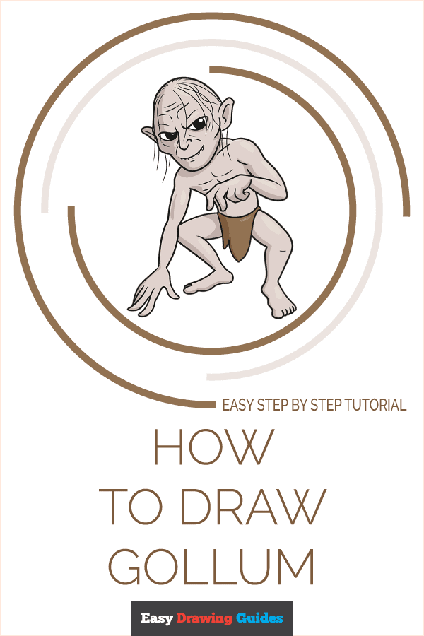 How to Draw Gollum | Share to Pinterest