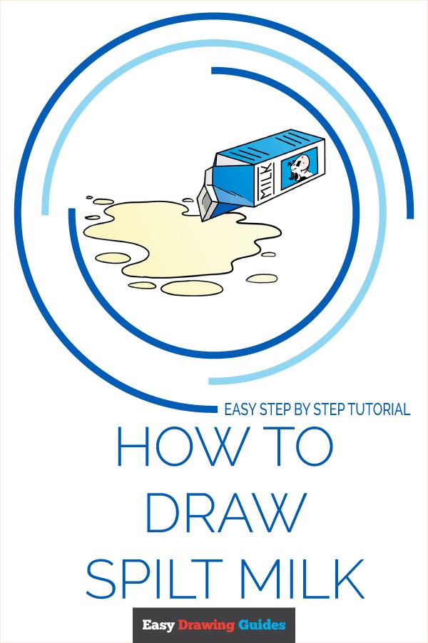 How to Draw Spilt Milk Pinterest Image