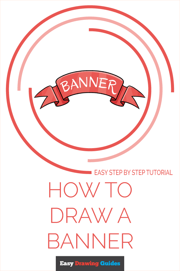 How to Draw Banner | Share to Pinterest