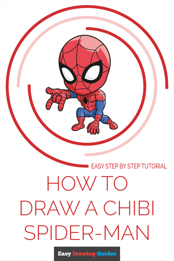 How to Draw Chibi Spider-Man | Share to Pinterest