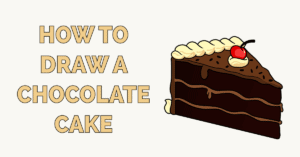 How to Draw a Chocolate Cake Featured Image