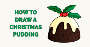 How to Draw a Christmas Pudding Featured Image