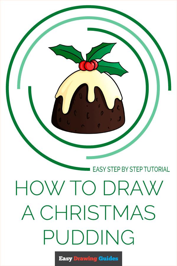 How to Draw Christmas Pudding | Share to Pinterest