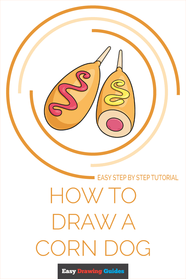 How to Draw a Corn Dog Pinterest Image