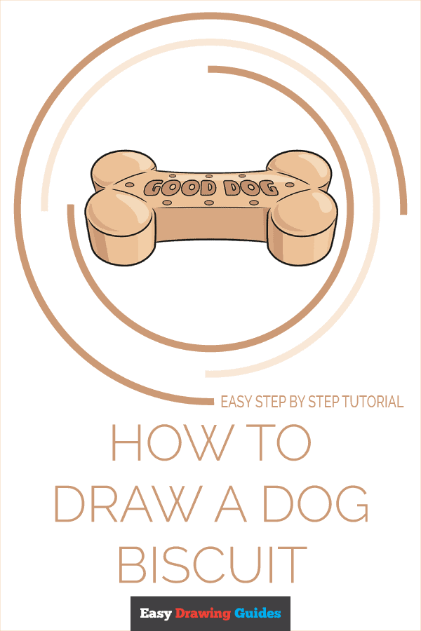 How to Draw a Dog Biscuit Pinterest Image