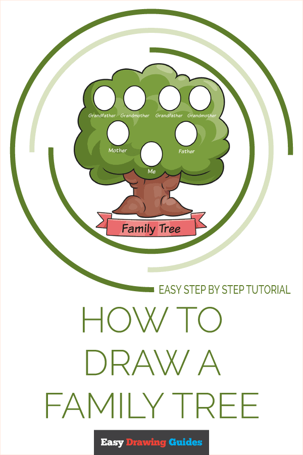 how to Draw a Family Tree Pinterest Image