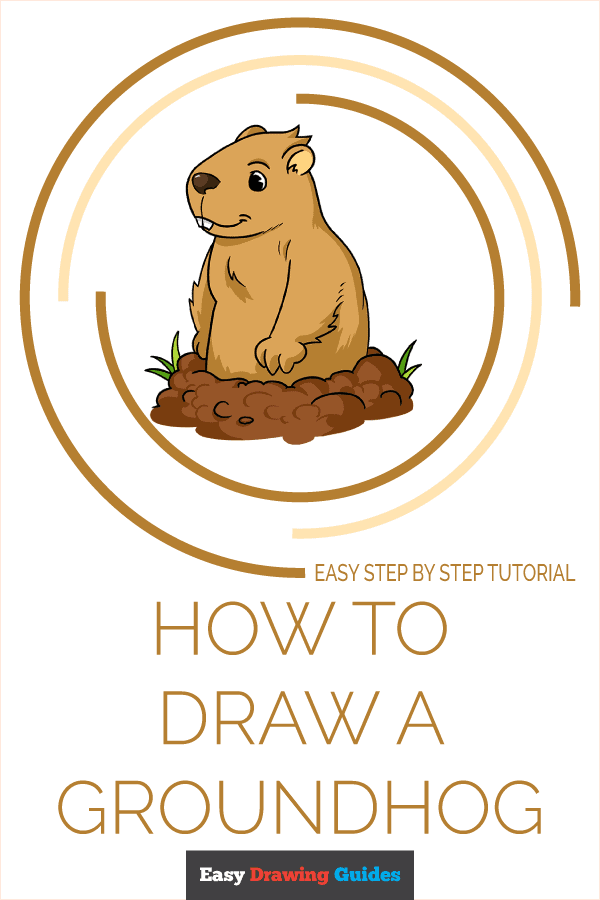 How to Draw a Groundhog Pinterest Image