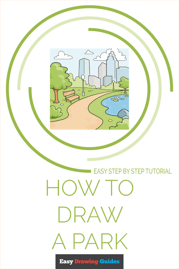 How to Draw Park | Share to Pinterest