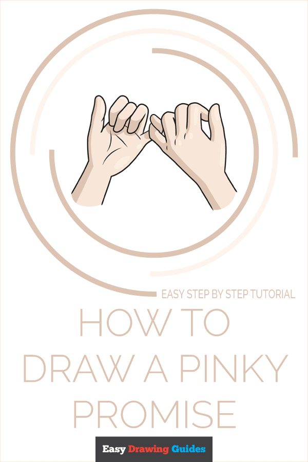How to Draw a Pinky Promise Pinterest Image