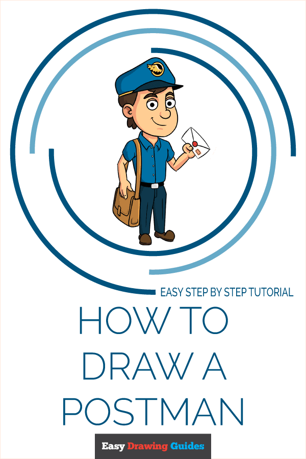 How to Draw Postman | Share to Pinterest