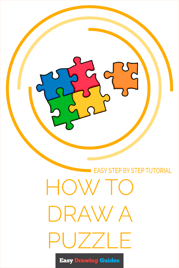 How to Draw Puzzle | Share to Pinterest