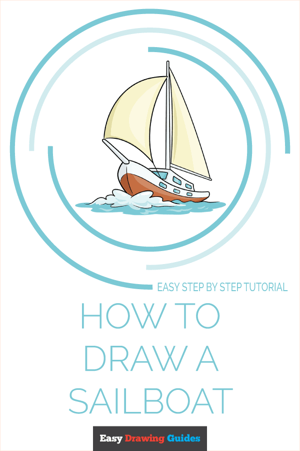 How to Draw Sailboat | Share to Pinterest