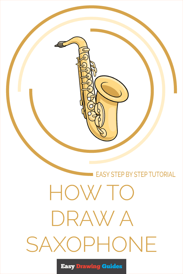 How to Draw Saxophone | Share to Pinterest