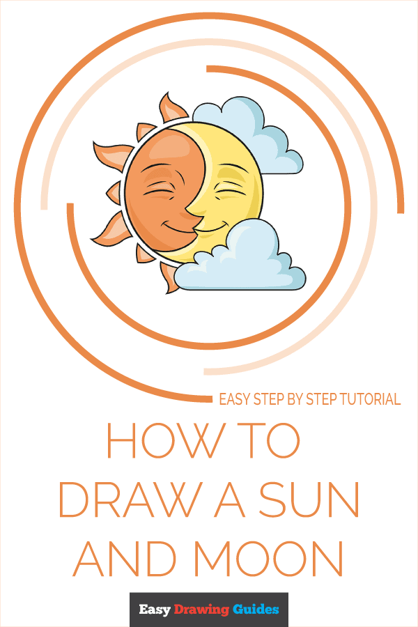 How to Draw Sun and Moon | Share to Pinterest