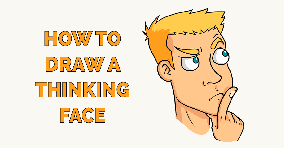 How to Draw a Thinking Face Featured Image