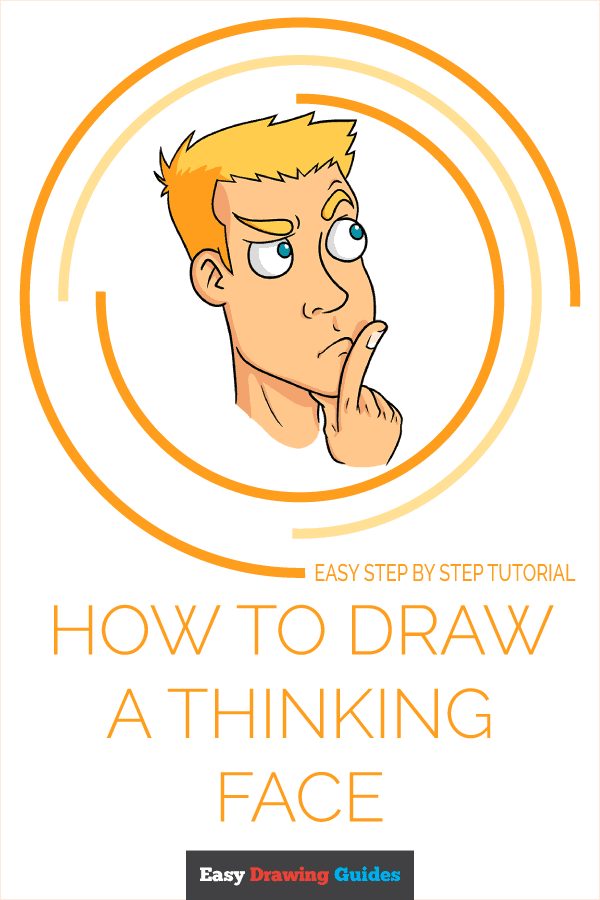 How to Draw Thinking Face | Share to Pinterest