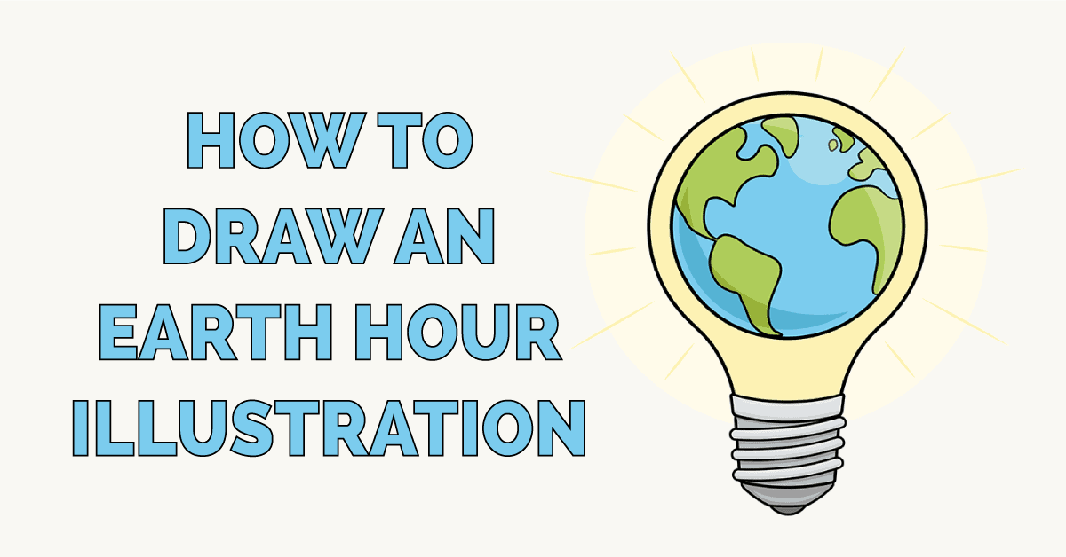How to Draw an Earth Hour Illustration Featured Image