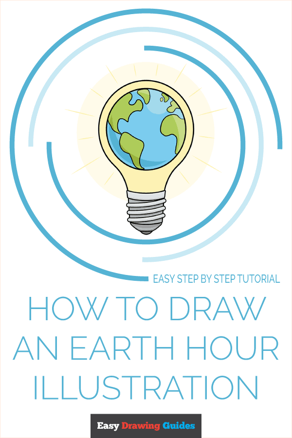How to Draw an Earth Hour Illustration Pinterest Image