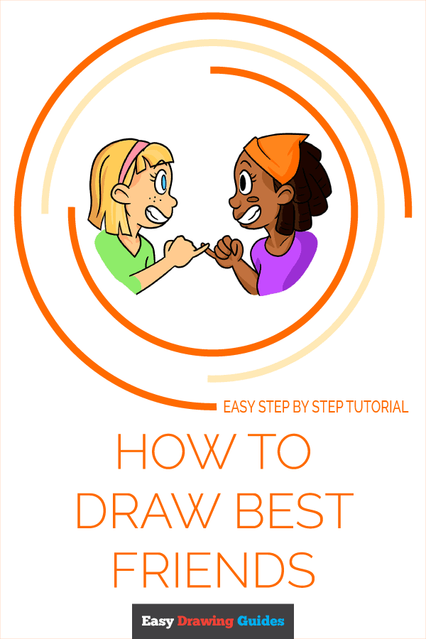 How to Draw Best Friends | Share to Pinterest