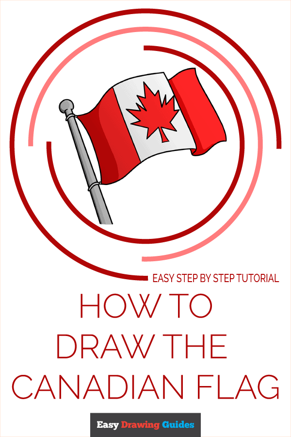 How to Draw the Canadian Flag Pinterest Image