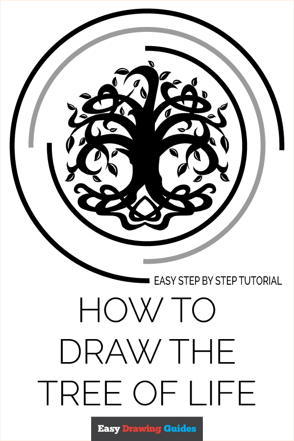 How to Draw Tree of Life | Share to Pinterest