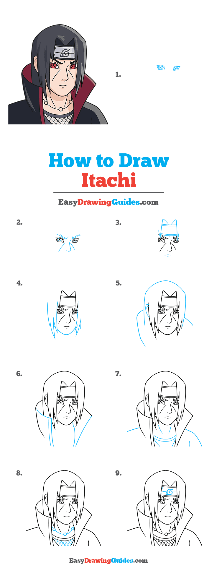 How to Draw Itachi