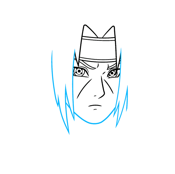How to Draw Itachi: Step 4