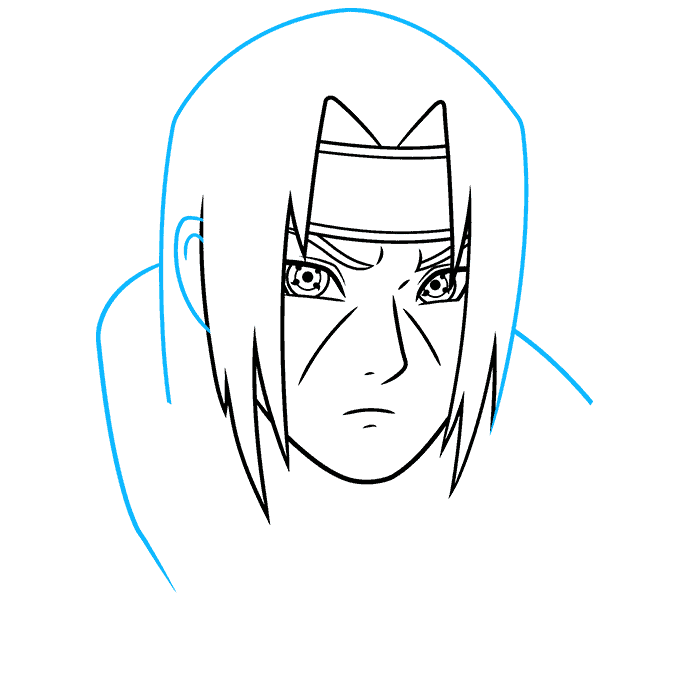 How to Draw Itachi: Step 5