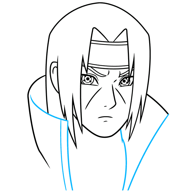How to Draw Itachi: Step 6