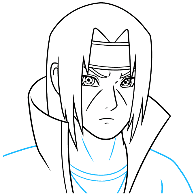 How to Draw Itachi: Step 7