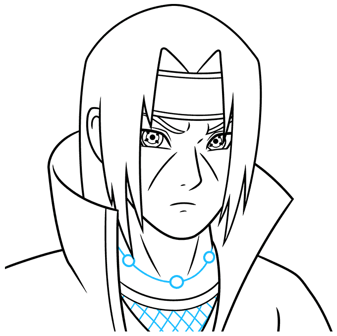 How to Draw Itachi: Step 8